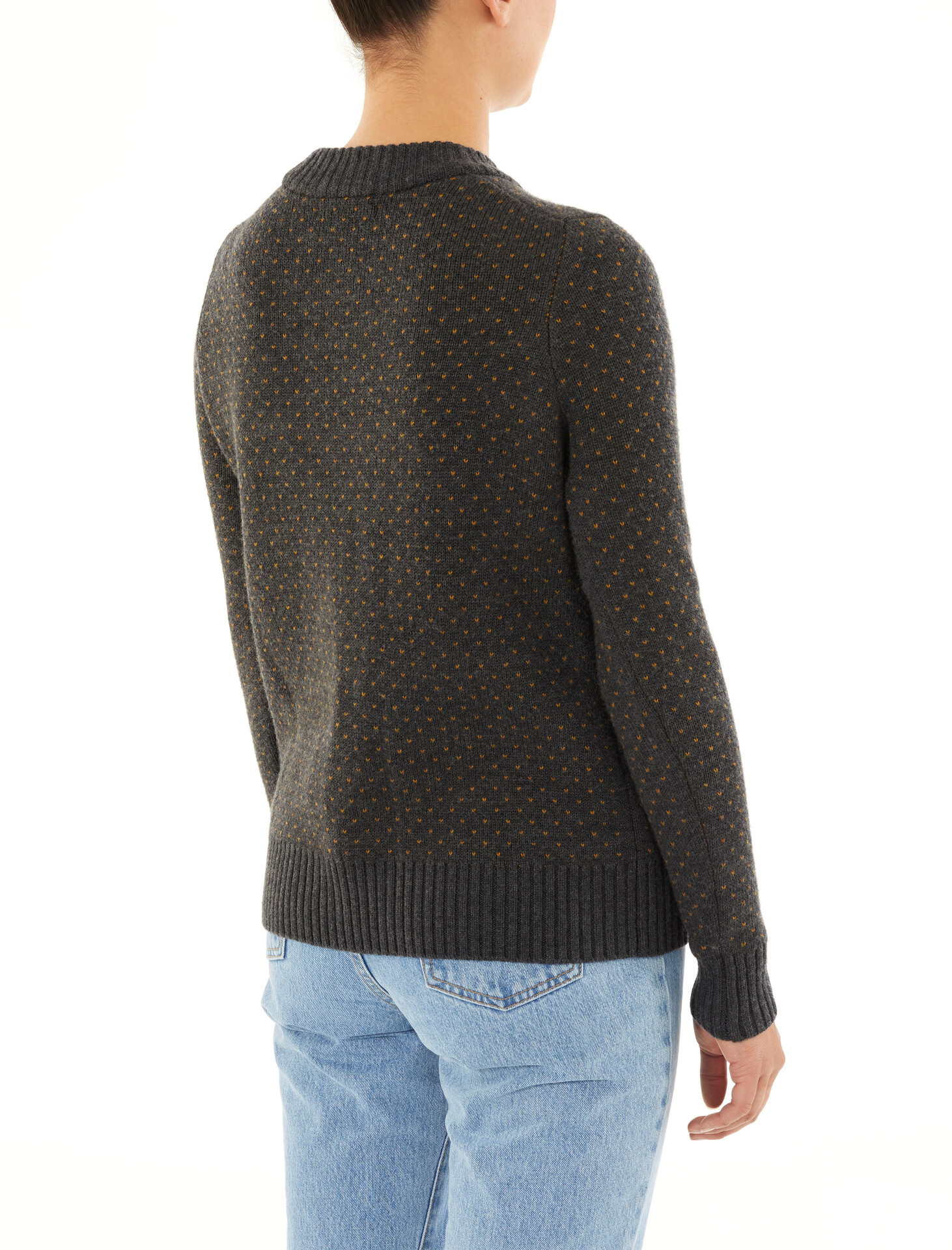 Icebreaker Waypoint Rundhals Sweater Damen char heather